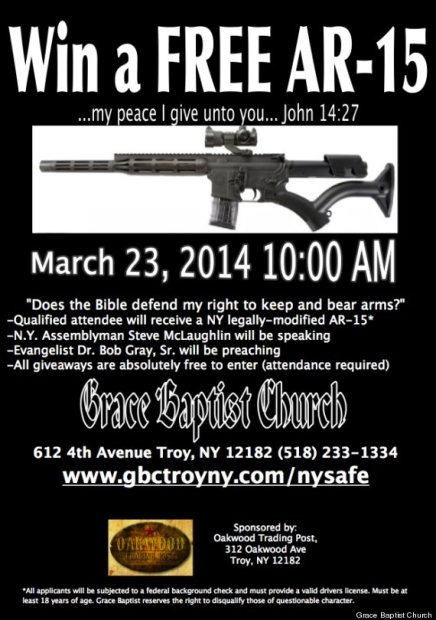 Giving Away A Ar 15 Semi Automatic Rifle And Quotes Jesus On Peace